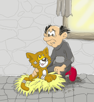 A Wizard and his Cat colored by KojinkaLuigiGodzilla