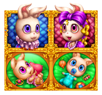 Bunnies icons combo by RenieDraws