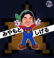 Happy Birthday Shigeru Miyamoto! by ThatCrookedMind