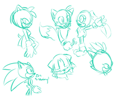 Sketches Sonic Stuff by McButterFingers