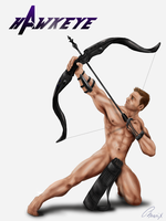 Stripped Down: Hawkeye by Phoenix-Cry