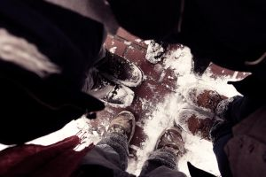 Snowshoes by honeytrees