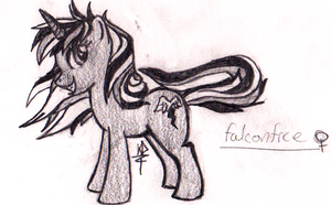 MLP OC number two: Falconfree by kitoridragoness