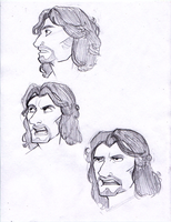 More expression sketches - Th'ero by zeralia