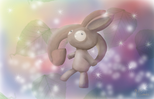 Bunny Thing, Floating in the Void Between Worlds by cryptmonkey