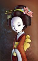 Geisha - colored by Hahnsel