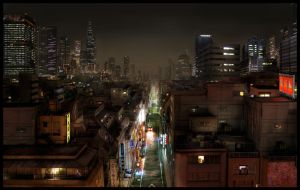 City at night by ResVoCoder