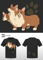 Corgi Cerberus by PeopleEveryday