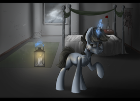 In the dark by MyMineAwesome