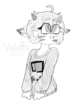 Violetta (Clean Sketch Commission) (Paid) by TheDMCArts