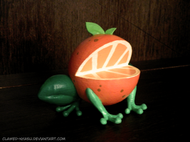 A Frog Crossed with an Orange! by Clawed-Nyasu