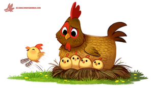Daily Paint #1216. Spring Chicken by Cryptid-Creations