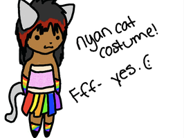 Nyan Cat Coustume. :3 by BarfingNeonRainbows