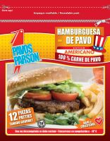 Turkey Burger Patties Bag by javier777