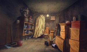 Storeroom concept art by aaronwty