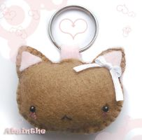 Felt Kitty Keychain by fee-absinthe