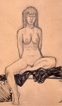 Figure drawing at the old convent 4 by Cruxia