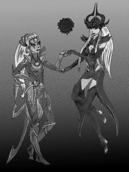 Diana And Syndra from League by PoiPoi13