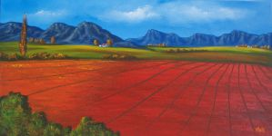 Red Ploughed land by ArtofMais