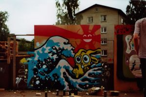 My first graffiti ever by budilnik