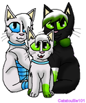 Jolie, Kuru, and Justin by Catatouille101