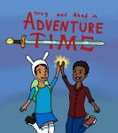 Troy and Abed in Adventure Time by spinda101