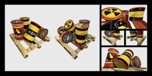 Junkpunk - Pallet and Barrels - Details and HD by Amnoon
