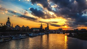 Ancient town of Dresden by Devriant