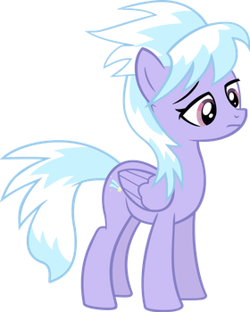 Cloudchaser is not amused by CloudsdaleCompanion