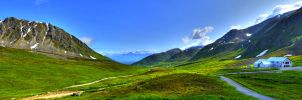 Hatcher Pass Panorama by pacmangeek