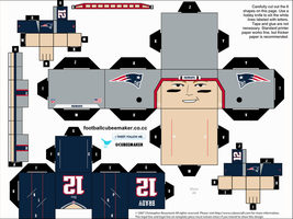 Tom Brady Patriots Cubee by etchings13