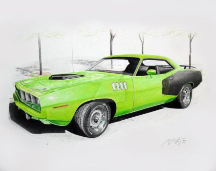 Plymounth 71 CUDA 340 by Mipo-Design