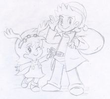 Commish: Father daughter Christmas cheer by Nintendrawer