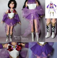 Miracle Sailor Saturn custom clothes commission by Leaf-nin