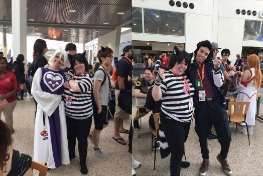 Chesh with Other Cosplayers at Anime Expo 16 pt 6 by Black--Cheshire