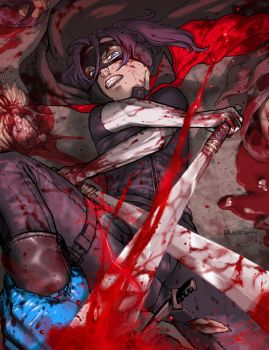 HIT-GIRL: Comic Ver. by Ricken-Art
