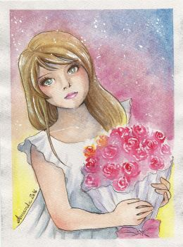First watercolor by amandioka