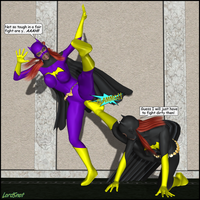 Batgirl Brouhaha 03 by LordSnot