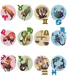 Zodiac Signs by Cique