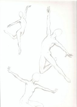 Anatomy Practice - Ballet Dancers by TehLookingGlass