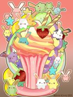 Mallow Bunny Sundae by Minty-Kitty-Art