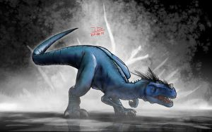 Cahdok is a T-rex wannabe by IRON6DUCK