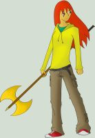 Axe Lady by emberwing77