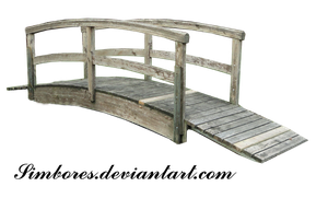 Wood japanese bridge 04 by Simbores