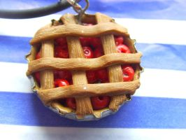 Cherry Pie Necklace by tyney123
