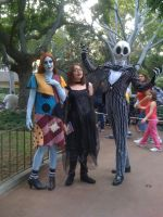Me with Jack and Sally by Mysticalblackangel