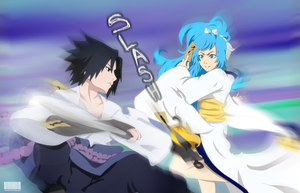 commission: sasuke vs Tori by tenchufreak