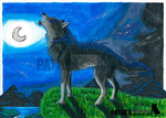 .:: HOWLING AT THE MOON ::. by Pathea