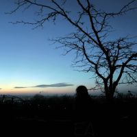 Silhouette above the city by Elena-Alina