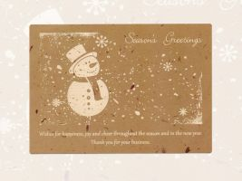 Laser Engraved Holiday Card by dizzyflower28